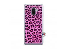 Coque Samsung Galaxy A8 2018 Pink Leopard Translu