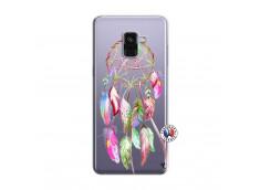 Coque Samsung Galaxy A8 2018 Pink Painted Dreamcatcher