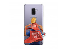 Coque Samsung Galaxy A8 2018 Super Papa et Super Bébé