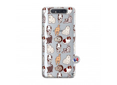 Coque Samsung Galaxy A80 Cat Pattern