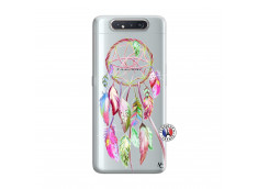 Coque Samsung Galaxy A80 Pink Painted Dreamcatcher