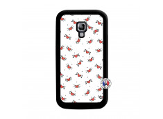 Coque Samsung Galaxy ACE 2 Cartoon Heart Noir