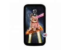 Coque Samsung Galaxy ACE 2 Cat Pizza Noir
