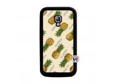 Coque Samsung Galaxy ACE 2 Sorbet Ananas Noir