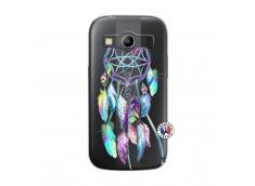Coque Samsung Galaxy ACE 4 Blue Painted Dreamcatcher