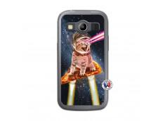 Coque Samsung Galaxy ACE 4 Cat Pizza Translu