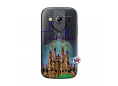 Coque Samsung Galaxy ACE 4 I Love Barcelona