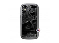 Coque Samsung Galaxy ACE 4 Black Marble Translu