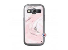 Coque Samsung Galaxy ACE 4 Marbre Rose Translu