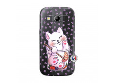 Coque Samsung Galaxy ACE 4 Smoothie Cat
