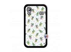 Coque Samsung Galaxy ACE Le Monde Entier est un Cactus Noir
