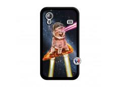 Coque Samsung Galaxy ACE Cat Pizza Noir