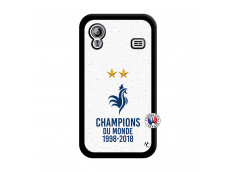 Coque Samsung Galaxy ACE Champion Du Monde Noir