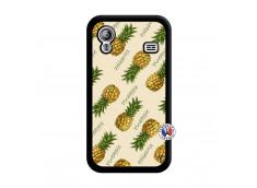 Coque Samsung Galaxy ACE Sorbet Ananas Noir
