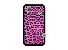Coque Samsung Galaxy ACE Pink Leopard Noir