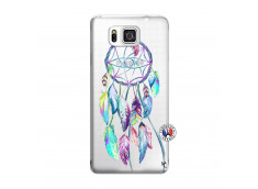 Coque Samsung Galaxy Alpha Blue Painted Dreamcatcher