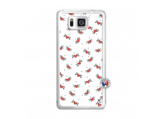 Coque Samsung Galaxy Alpha Cartoon Heart Translu