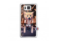 Coque Samsung Galaxy Alpha Cat Nasa Translu