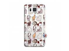 Coque Samsung Galaxy Alpha Cat Pattern