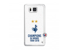 Coque Samsung Galaxy Alpha Champion Du Monde Translu