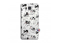 Coque Samsung Galaxy Alpha Cow Pattern
