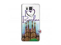 Coque Samsung Galaxy Alpha I Love Barcelona