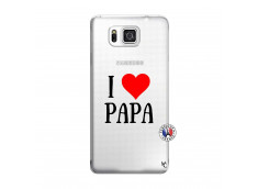 Coque Samsung Galaxy Alpha I Love Papa