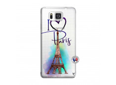 Coque Samsung Galaxy Alpha I Love Paris