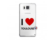 Coque Samsung Galaxy Alpha I Love Toulouse