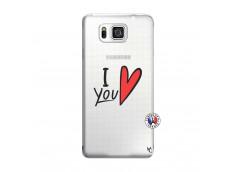 Coque Samsung Galaxy Alpha I Love You