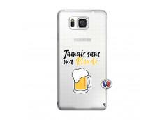 Coque Samsung Galaxy Alpha Jamais Sans Ma Blonde