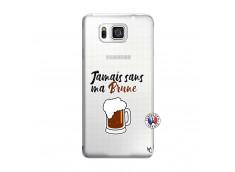 Coque Samsung Galaxy Alpha Jamais Sans Ma Brune
