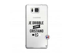 Coque Samsung Galaxy Alpha Je Dribble Comme Cristiano