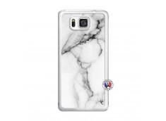 Coque Samsung Galaxy Alpha White Marble Translu