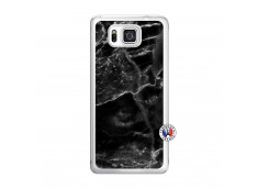 Coque Samsung Galaxy Alpha Black Marble Translu