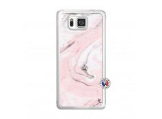 Coque Samsung Galaxy Alpha Marbre Rose Translu