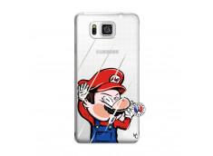 Coque Samsung Galaxy Alpha Mario Impact