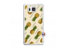 Coque Samsung Galaxy Alpha Sorbet Ananas Translu
