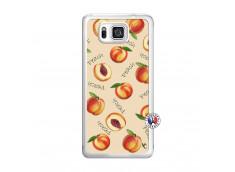 Coque Samsung Galaxy Alpha Sorbet Pêche Translu