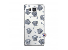Coque Samsung Galaxy Alpha Petits Elephants