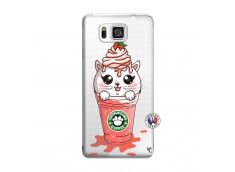 Coque Samsung Galaxy Alpha Catpucino Ice Cream