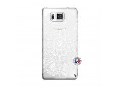 Coque Samsung Galaxy Alpha White Mandala