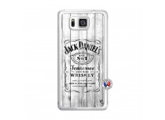 Coque Samsung Galaxy Alpha White Old Jack Translu
