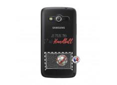 Coque Samsung Galaxy Core 4G Je peux pas j'ai Handball