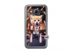 Coque Samsung Galaxy Core Prime Cat Nasa Translu
