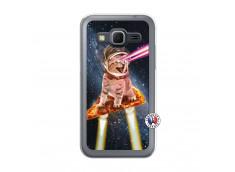 Coque Samsung Galaxy Core Prime Cat Pizza Translu