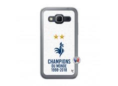 Coque Samsung Galaxy Core Prime Champion Du Monde Translu