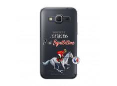 Coque Samsung Galaxy Core Prime Je Peux Pas J Ai Equitation