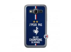 Coque Samsung Galaxy Core Prime Je Peux Pas On Est Les Champions Du Monde Translu