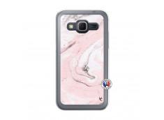 Coque Samsung Galaxy Core Prime Marbre Rose Translu
